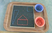 NAMC montessori preschool first day elastic board