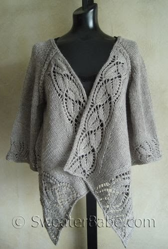 I Knit And Tell Sweaterbabe S Dramatic Lace Wrap Cardigan