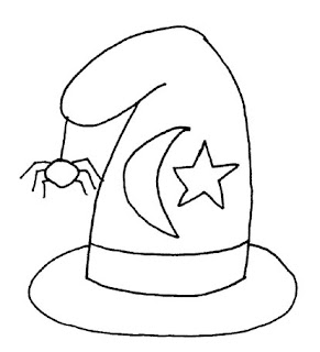 Halloween Witch Face Coloring Pages