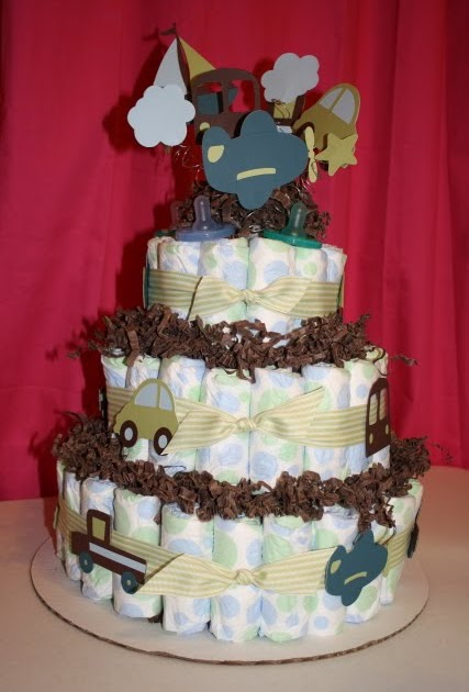 Scrappingwest Diaper Cake How To