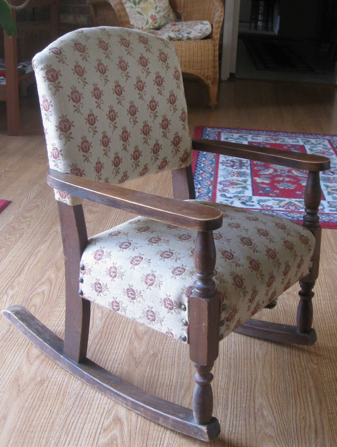 Aunt Priscilla Has A Rocking Chair Wedding Covers Inverness Monkey See Do Reupholstery Project