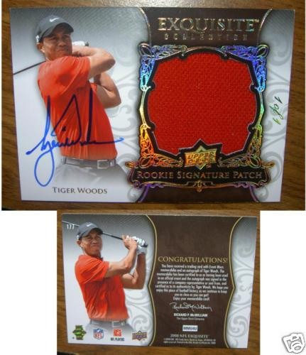 Tiger Woods Exquisite 11 Hits Ebay Sports Cards