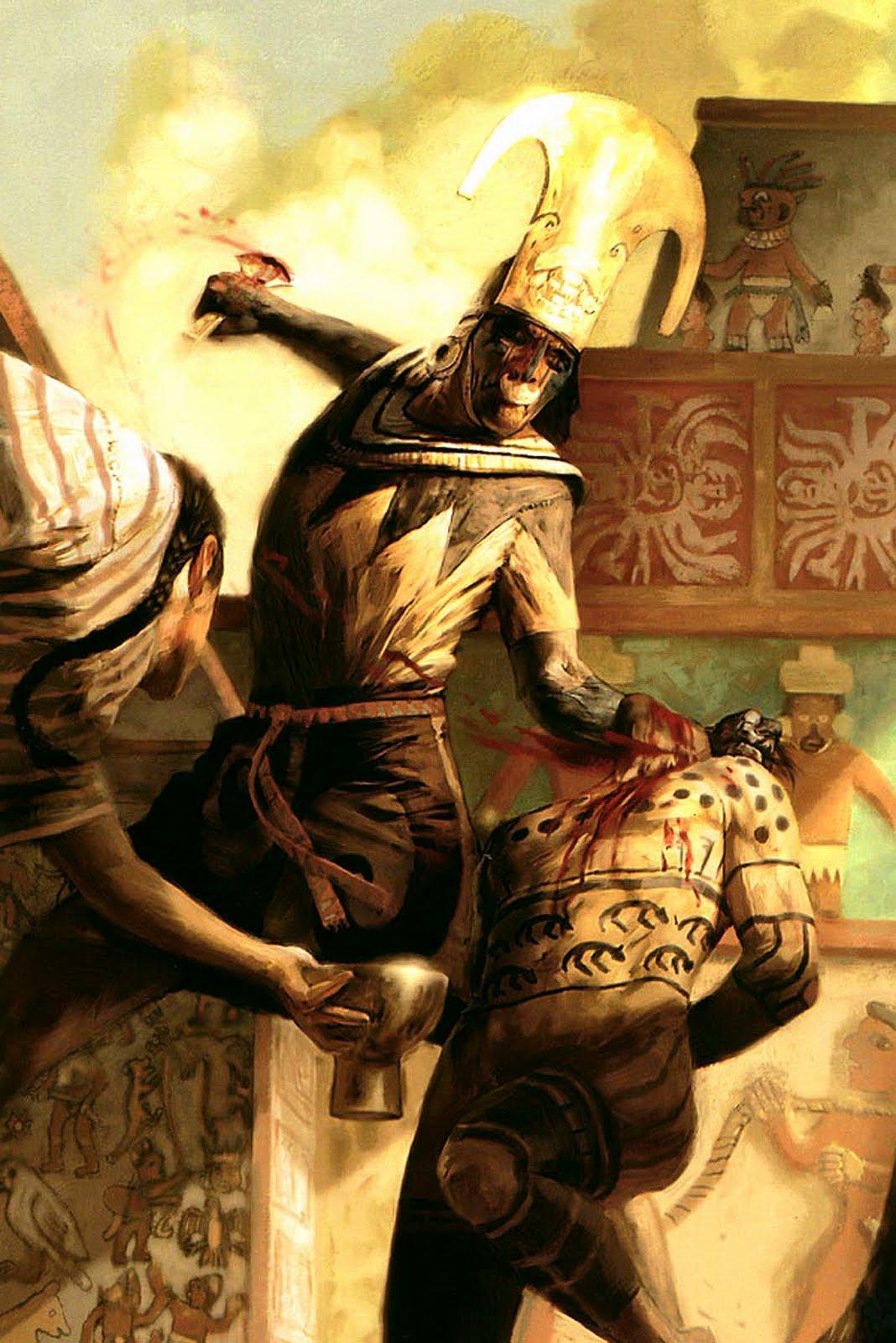 Maya Human Sacrifice - YouTube  |Maya Sacrifice Stamp