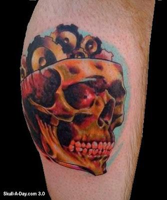 Gearhead Tattoo Skull