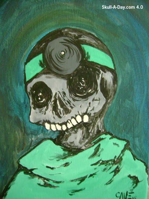 Spooky Skull Painting Saturday