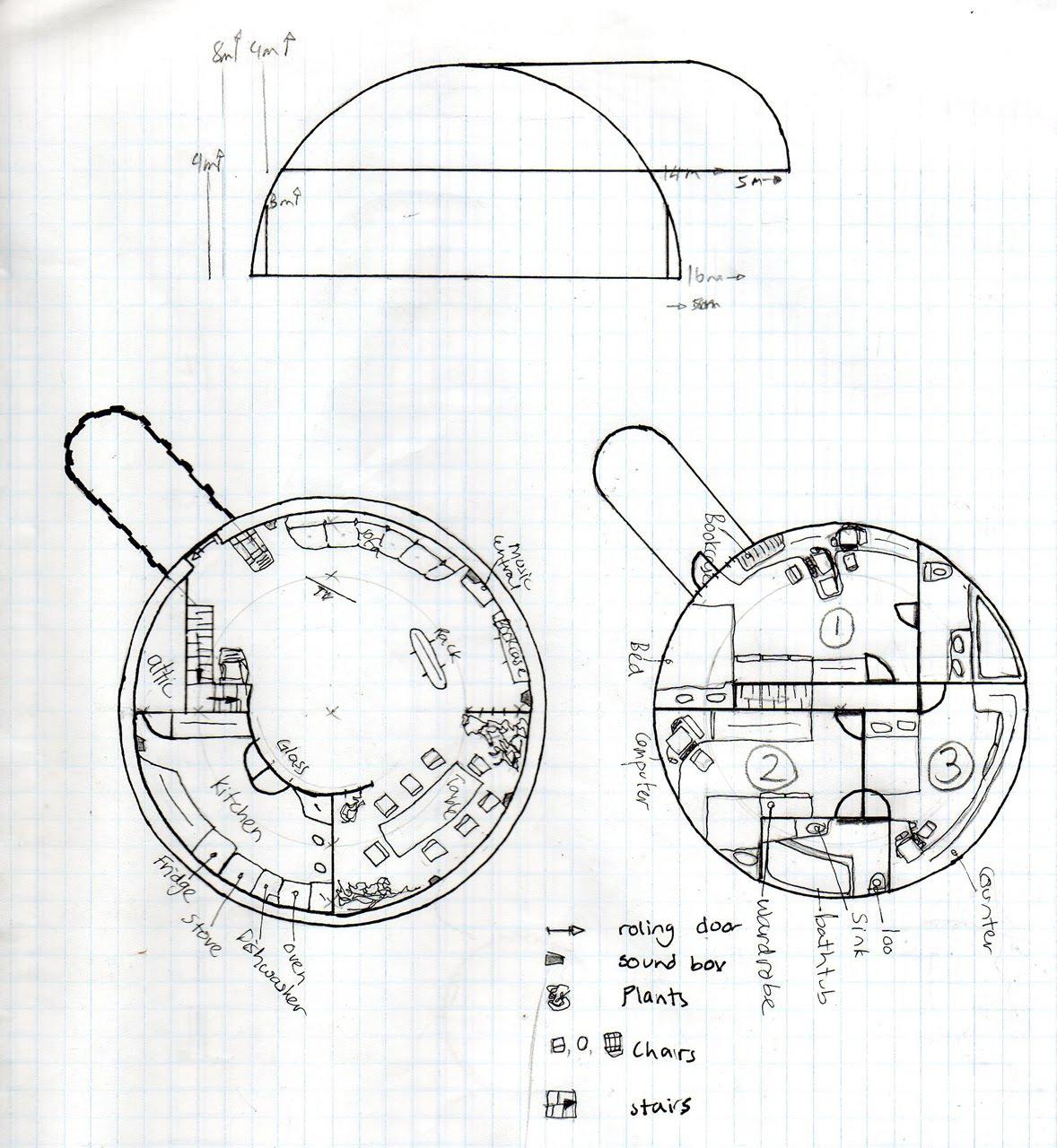 Compendio Artistico Bubble House Floor Plan