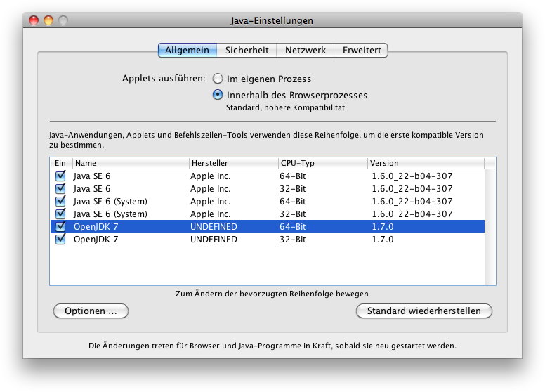 JavaBarista: Java, agil zubereitet : OpenJDK 7 für Mac OS X