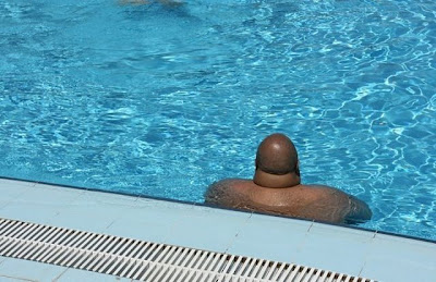There's a dickhead in the pool!