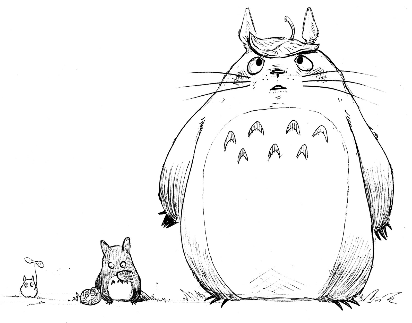 My Neighbor Totoro Black And White Quotes. QuotesGram