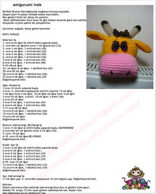 Amigurumi inek (buzağı) tarifi ve yapılışı - Canım Anne | 400x321