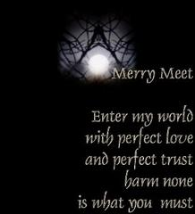 merry meet and part again meaning