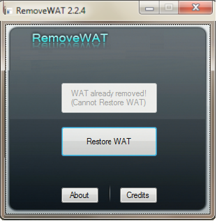windows wat remover
