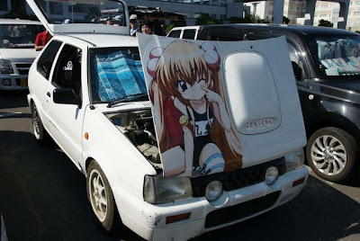 A ne pas manquer au Japon les voitures Itasha, les vélos itachari et les motos itansha !