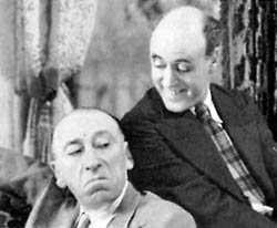 Alistair Sim and Gordon Harker in an Inspector Hornleigh movie