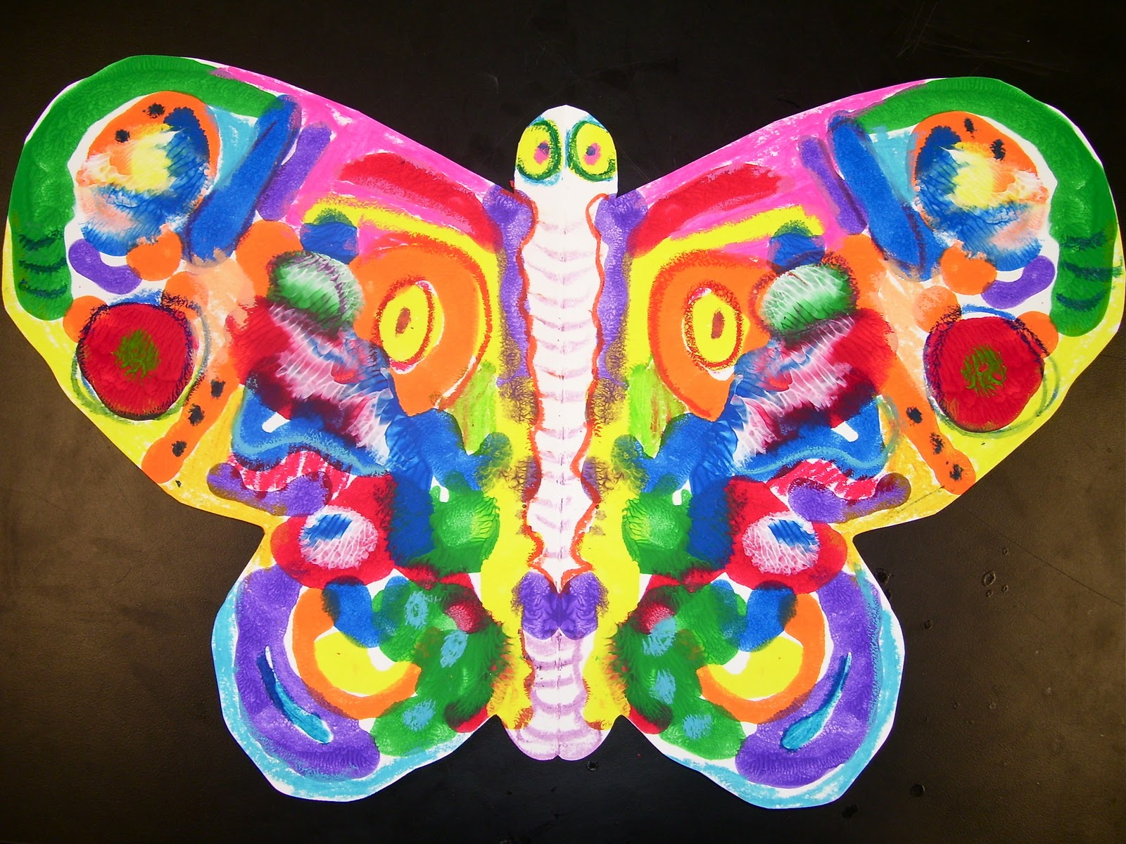 Experiments In Art Education Symmetrical Butterflies
