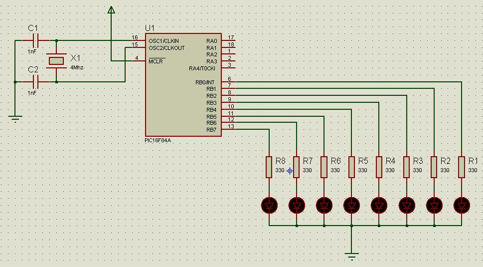 8 bit microcontroller: GCBASIC Tutorial #1: Play with LED
