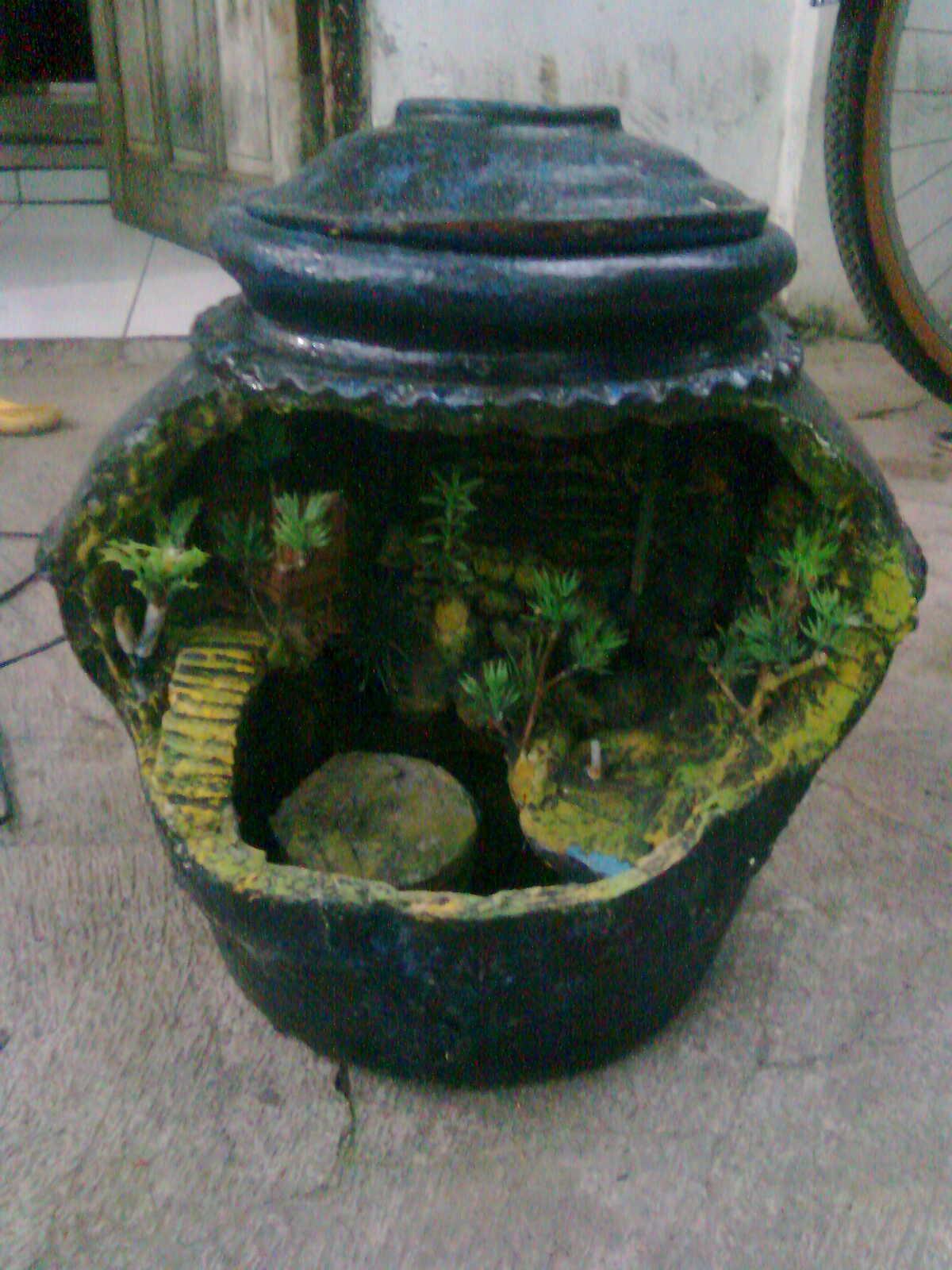 Creativedesign Unique Aquarium Of Pottery