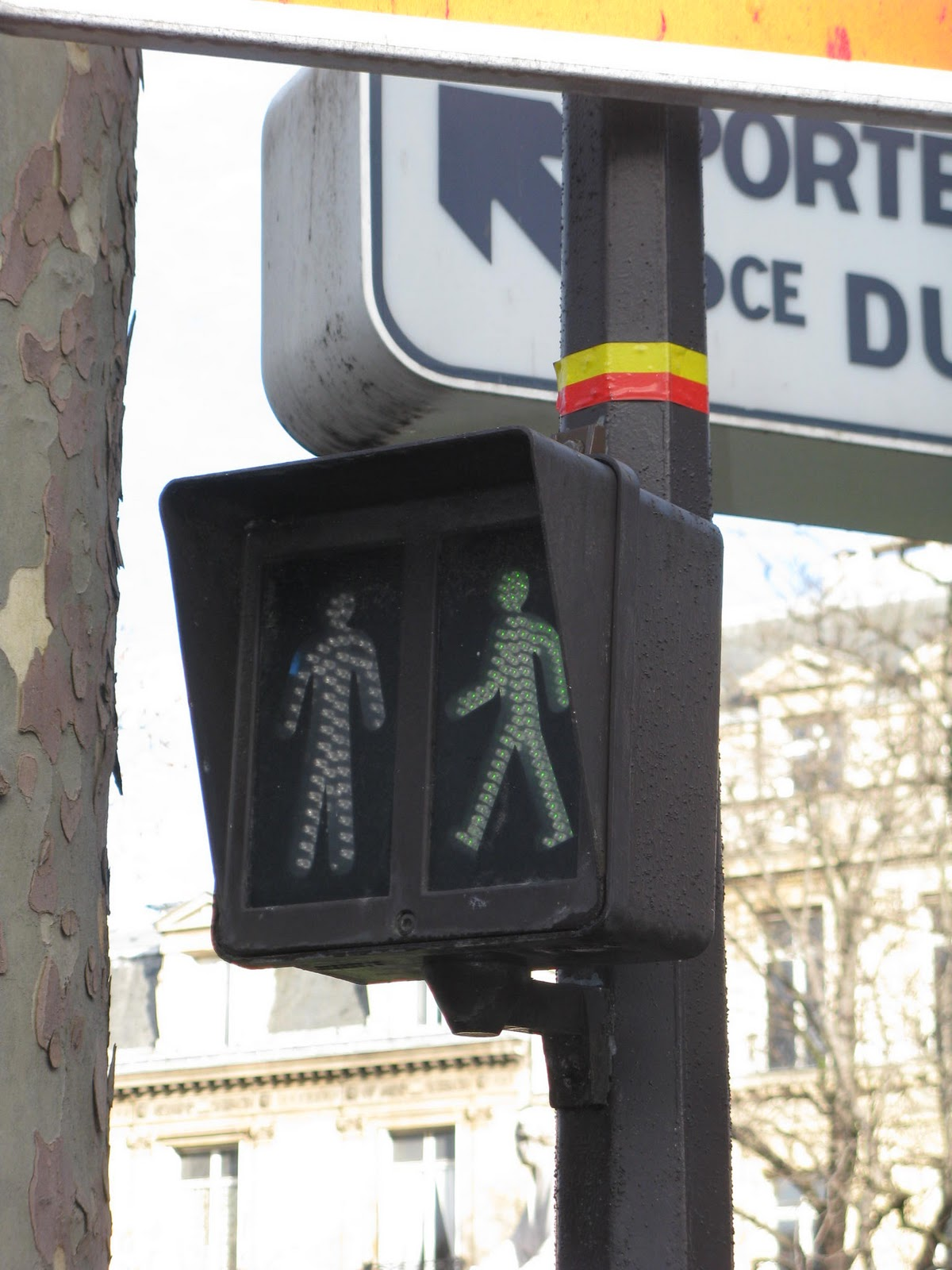 Just Another American in Paris: Follow the Yellow and Red Striped Road
