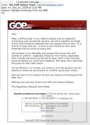 Gop Christmas Message.Rnc Christmas Greeting Omits Word Christmas Americablog News