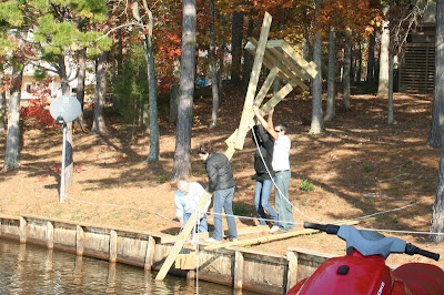 putting up an osprey nesting platform