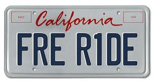 Free Ride license plate