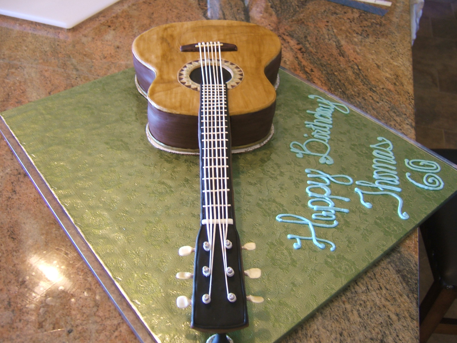 Gorgeous Cakes By Kris Acoustic Guitar Cake