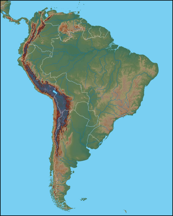 Gacekblog: Geo Quiz #32: South America Physical Features on map of south america paraguay river, latin america uruguay river, map of south america orinoco river, map of rivers and rio grande parana, map of south america amazon river, map of south america uruguay river,