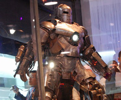 Shiny Scary Iron Man Suit at CES