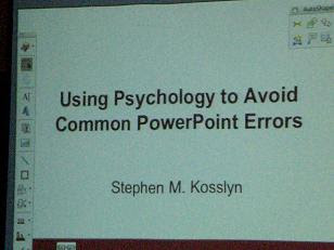 Kosslyn can Improve PowerPoint Presentations