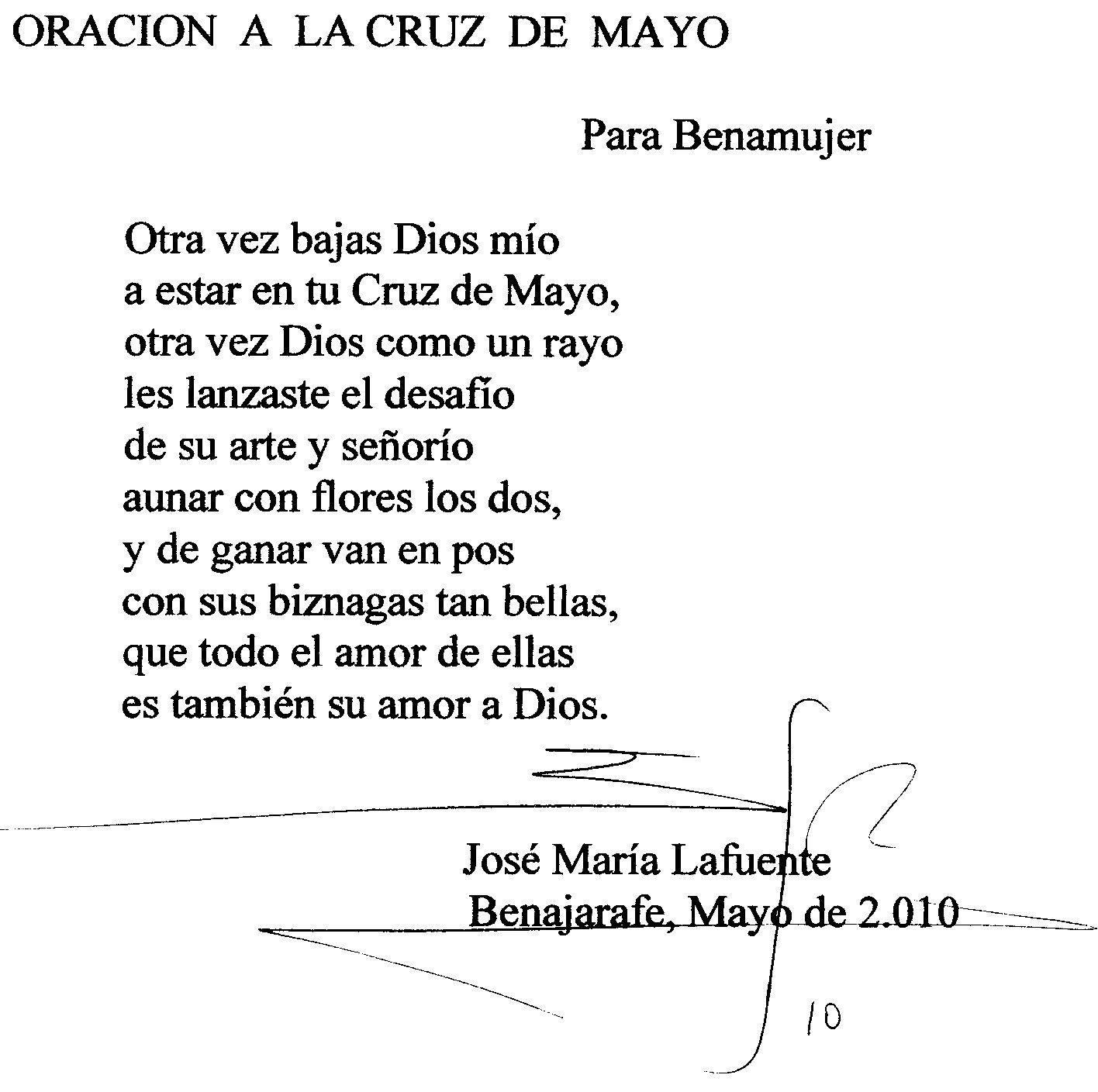 Benamujer Mayo