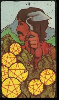 How to Read Tarot Cards: Card of the Day - Seven of Pentacles