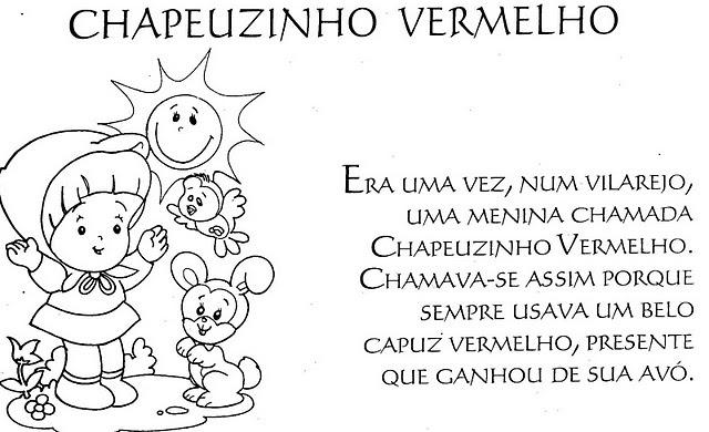 Jardim Da Tia Di♥: Chapeuzinho Vermelho Para Colorir 2