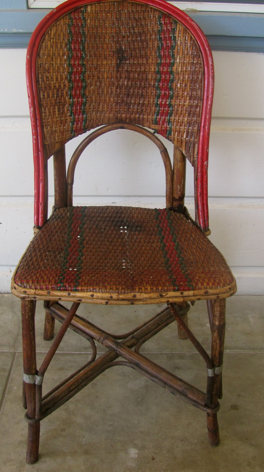 Antique French Rattan Bistro Chairs