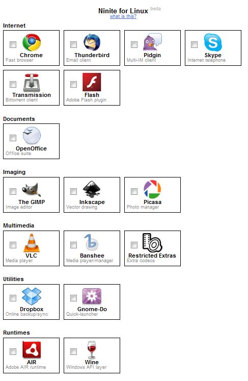 Vlkouse: Ninite for Linux