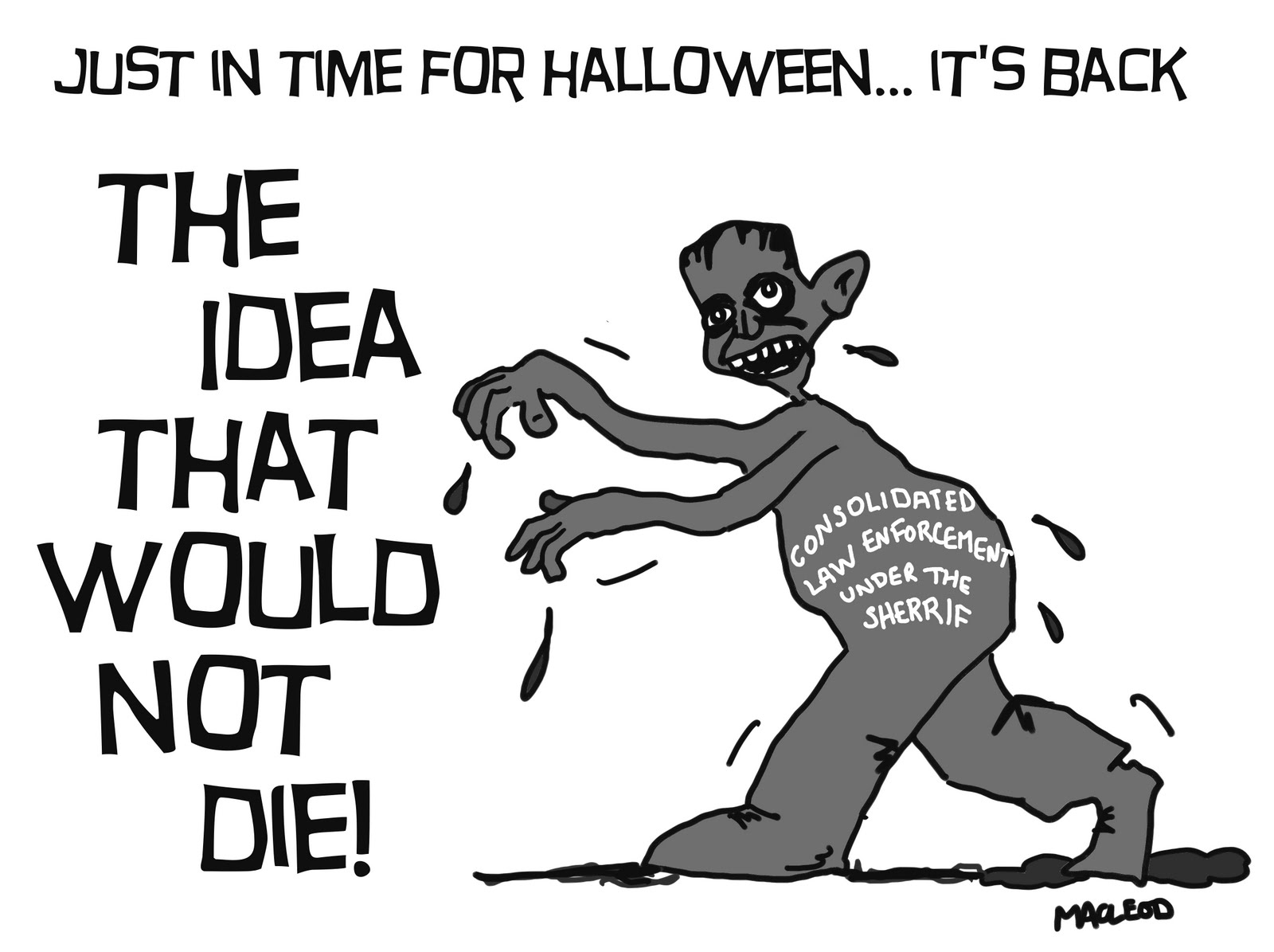 MacLeod Cartoons: Law Enforcement Consolidation Evansville