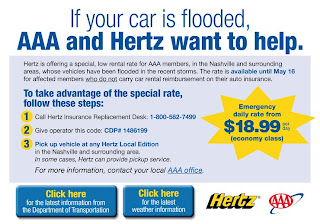 Baxterblogs Aaa Amp Hertz Is Helping The Flood Victims