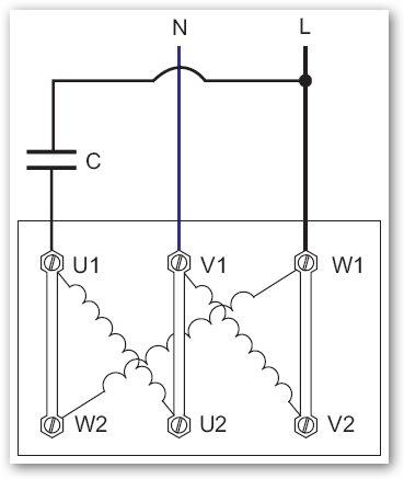 Instalaciones De Distribución E Instalaciones Solares Fotovoltaicas Como Conectar Un Motor Trifásico De 400v A 230 Monofásico