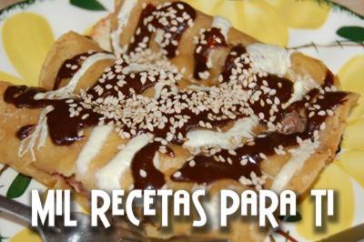 Mil Recetas para Ti: Enchiladas de Mole Poblano