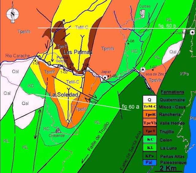 Mapa Geológico de Carache, Edo. Trujillo.