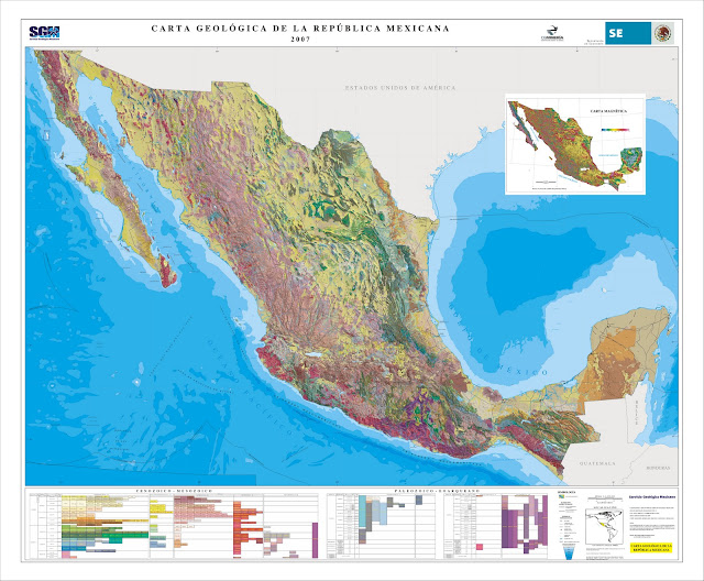 Mapa Geológico de México.