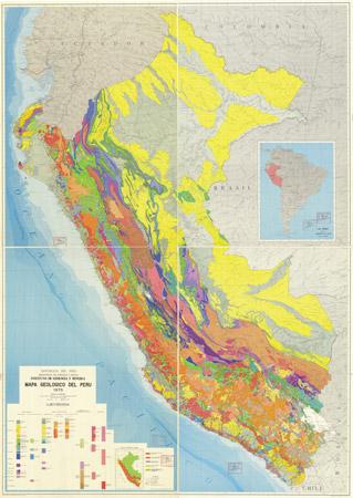 Mapa Geologico de Peru.
