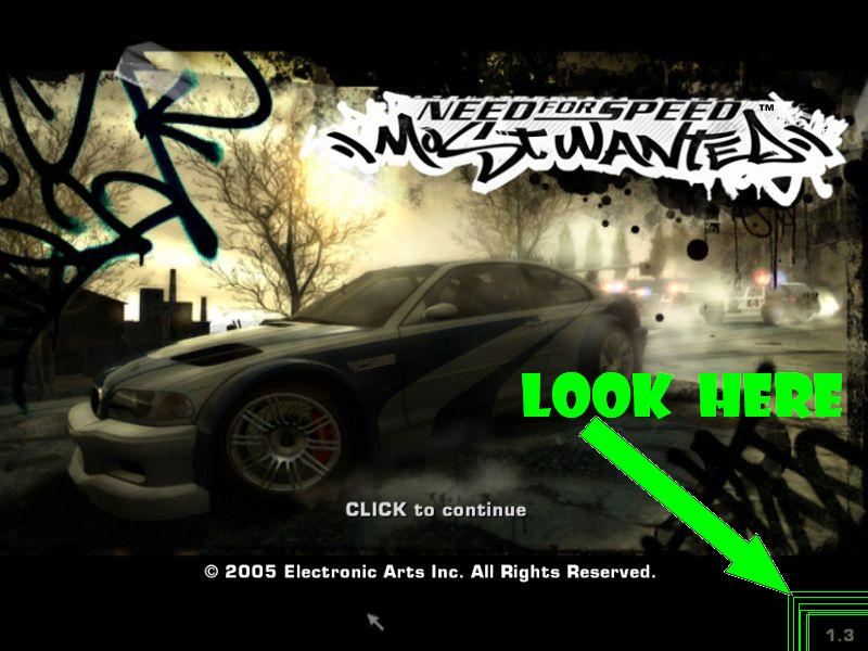 Tricks That I Have Used How To Check Version Of Need For Speed
