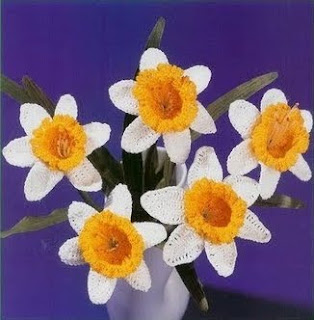 Narcisos de crochê
