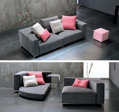 shmelock canap convertible en lit rond nesting. Black Bedroom Furniture Sets. Home Design Ideas