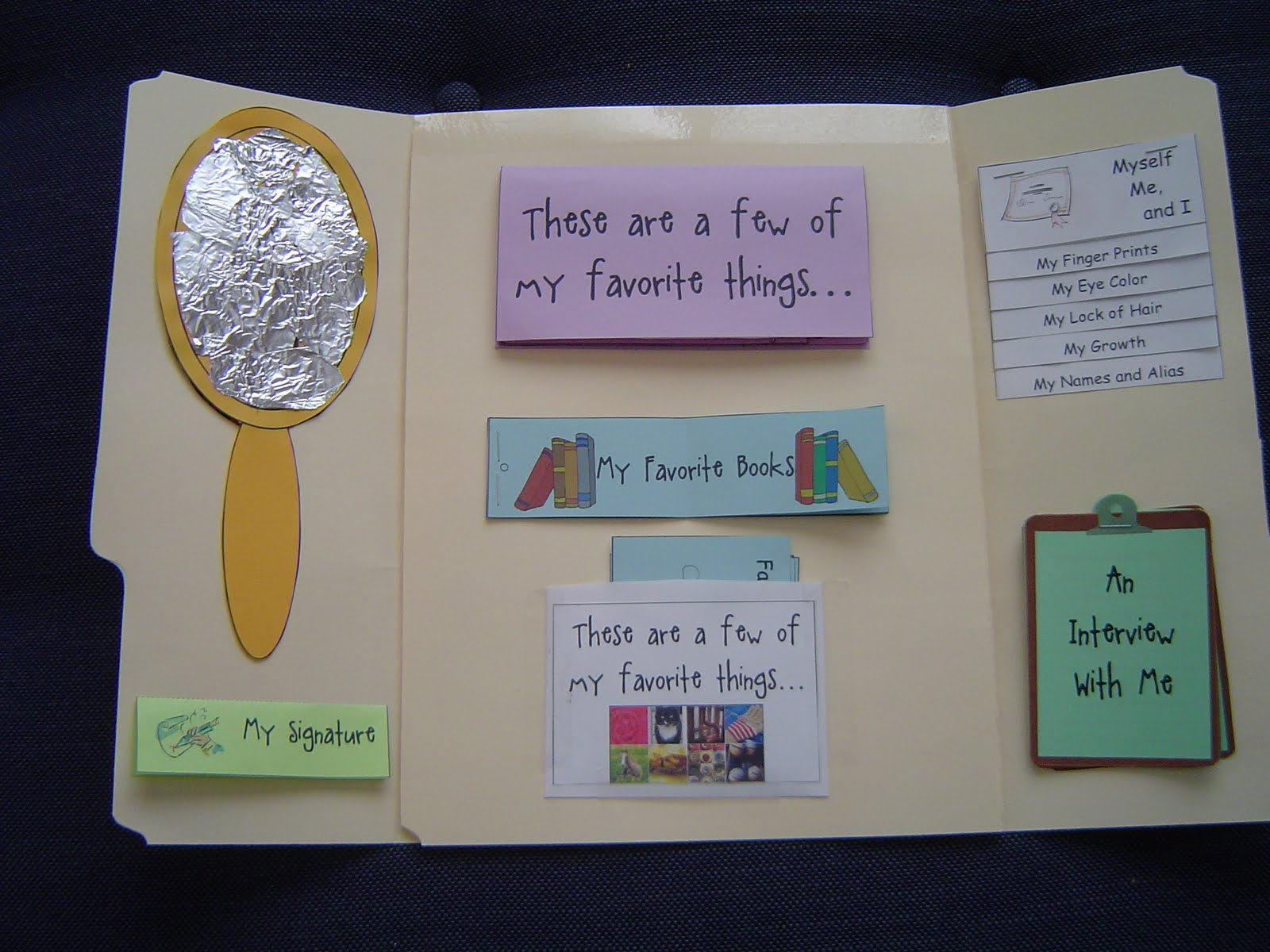 My Two Happy Homeschoolers: All About Me Lapbook