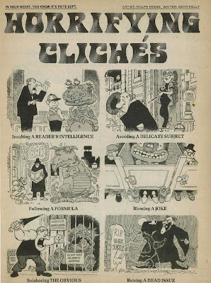 About those Mad Magazine visualizations of clichés,,,