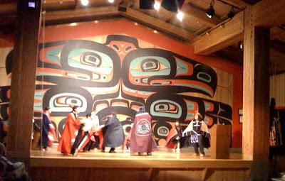 Sitka Tlingit Dancers on Haida Indian Villages In Alaska