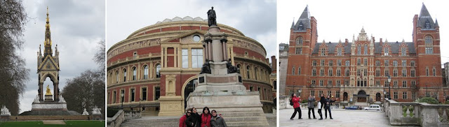Albert Memorial, Royal Albert Hall y College of Music de Londres