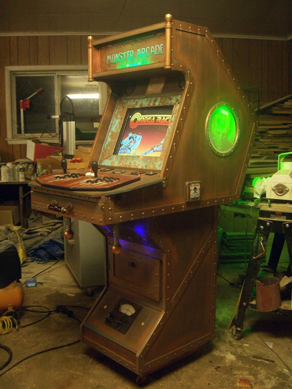 Many Of You Know I Enjoy Steampunk Art And Any Sort Functional When Was Googling Cabinets Today Came Across This Arcade