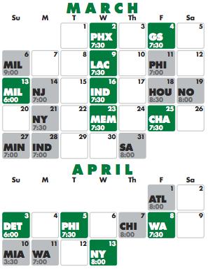 picture relating to Celtics Printable Schedule titled Celtics Daily life: 2010/2011 Celtics Program